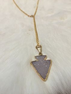 MKaltenbach Druzy Arrow Adjustible Necklace - Lavender- A gorgeous druzy piece of jewelry, a great accessory to any outfit! #wildebelleboutique