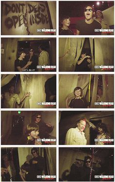 Norman Reedus, Chandler Riggs, & Greg Nicotero, @ The Walking Dead maze at Halloween Horror Nights