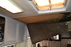 How to remove the ugly RV ceiling and replace without spending a fortune.