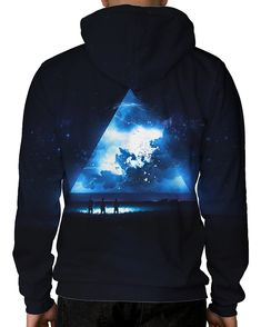 Space Rapture Pullover Hoodie-Male-Back