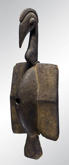 "Africa | ""Oiseau"" bird from the Senufo people of the Ivory Coast 