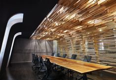 Red Bull offices by Johnson Chou, Toronto office design Office Design small office done right lasercut brass panels Workplace Design, Corporate Design, Retail Design, Corporate Offices, Corporate Interiors, Office Interiors, Commercial Design, Commercial Interiors, Red Bull