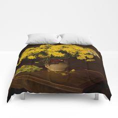 Amazing yellow Comforters by abeerhassan Yellow Comforter, Red Fox, King Queen, Comforters, Heaven, Cozy, Sleep, Touch