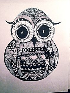 Owl zentangle that I just had to do ❤️