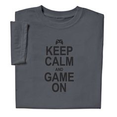 Keep Calm and Game On T-shirt Gamer Gifts, Teacher Humor, Teacher Appreciation Gifts, Make You Smile, Fathers Day Gifts, Keep Calm, Gifts For Him, Funny Tshirts, Tee Shirts