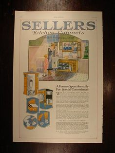 Sellers Kitchen Cabinets Vintage sellers hoosier cabinet replacement parts | 10046sellersad1922