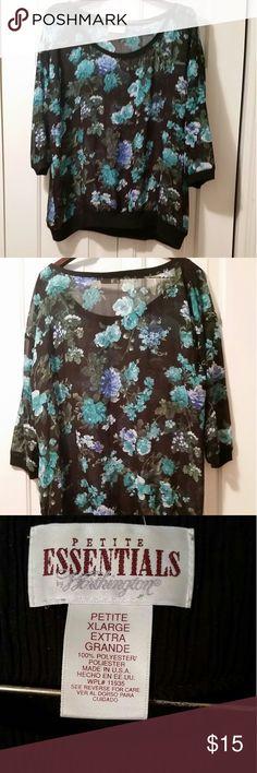 🌷💐 Blouse 💐 🌷 ❗️ ❗️ ❗️ 🌺 Beautiful Sheer Floral Print Blouse 🌺❗️ Bobbi Brooks  Tops Blouses