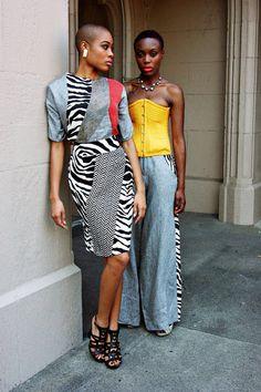 Brand: Plutocracy \ Stylist: Jean S. Hall \ Models: Folasade Adeoso & Liz Coicou \ Make-up: Apryl Rankin