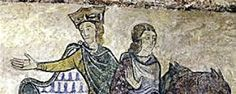 Ste. Radegonde mural in Chinon - a theory suggests that this is Henry the Young King and his brother John (~ 11 years younger than Henry) depicted during a reconciliation of the family (except Eleanor) 1173/74