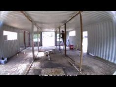Container home Interior structure modification - YouTube