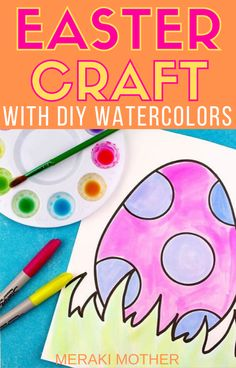 Simple Easter Watercolor Craft Using Sharpies – Meraki Mother The best simple Easter themed craft activity for kids to try out in the classroom! Plus how to create DIY watercolor paints! Craft Projects For Kids, Crafts To Do, Diy For Kids, 3 Kids, Kids Crafts, Art Projects, Craft Ideas, Easter Activities, Holiday Activities
