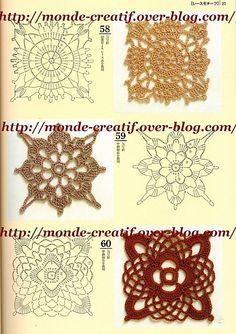 free pattern - crochet motifs