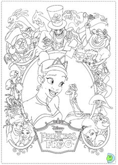 the princess and the frog coloring page dinokidsorg