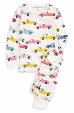 Mini Boden Fitted Two-Piece Pajamas (Little Girls & Big Girls)