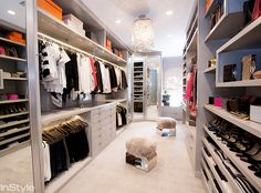 Go Inside Monique Lhuillier's Stunning Closet in Her L.A. Home - The Closet  - from InStyle.com