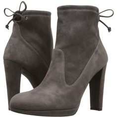 Stuart Weitzman Platglove (Londra Suede) Women's Shoes ($396) ❤ liked on Polyvore featuring shoes, boots, ankle booties, ankle boots, suede ankle booties, suede boots, suede bootie and short suede boots