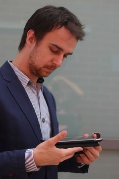 A man and his tablet