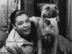 A dog with his singer friend, B. Holiday.