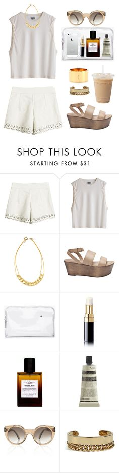 """""""#120"""" by judyzhou ❤ liked on Polyvore featuring Vanessa Mooney, Elizabeth and James, 3.1 Phillip Lim, Chanel, Kiehl's, Aesop, Illesteva, Maison Margiela and Reed Krakoff"""