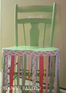 Ribbon Garland for chair