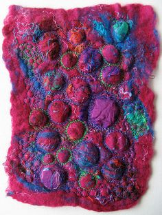 Machined felt by stitchworks-jackie, via Flickr