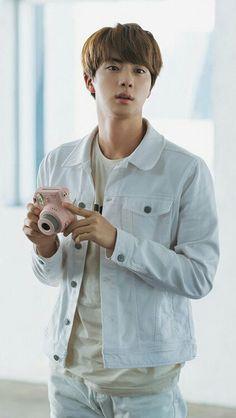 Jin | BTS Pink Polaroid Puma