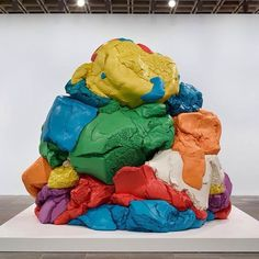 "Forget your childhood dough, artist Jeff Koons's ""Play-Doh"" took two decades to create. It consists of 27 interlocking pieces of painted aluminum."