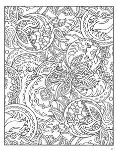 Paisley Coloring Pages for Adults | Dover Paisley Designs Coloring ...