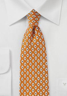 Krawatte Retro-Ornamente kupfer