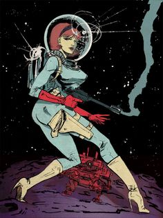 space girl pin up Pub Vintage, Vintage Space, Sci Fi Kunst, Science Fiction Kunst, Pinup, Sci Fi Comics, Space Girl, Space Age, Futuristic Art