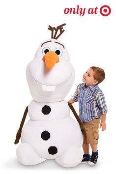 """The bigger the Olaf, the better the hugs. Here's a dream-come-true gift for kids who can't get enough of Disney's """"Frozen"""" or the cuddly, hug-loving snowman Olaf. He's 4' high and ready for adventure."""