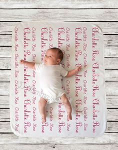 Swaddling And Receiving Blankets Personalized Baby Blanket Custom Quote Baby Shower Gift Receiving