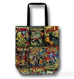 Marvel Comic Covers Tote Bag