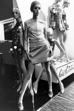 When: 1960s Where: Posing with mannequins