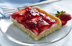 strawberry dessert with sugar cookie crust...looks so yummy :) At my house this is called cookie crack because of how addictive it is. I have also used mixed berries. Always a hit!