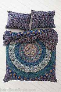 Indian Mandala Queen Size Cotton Doona Duvet Cover Set Hippie Bohemian Mandala Blanket Quilt Cover Bedspread Bedding Comforter Cover with 2 Pillow Covers Queen Size Duvet Covers, Comforter Cover, Queen Bedding Sets, Duvet Bedding, Duvet Cover Sets, Tapestry Bedding, Blue Comforter, Tapestry Wall, King Comforter