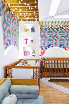 Amazing modern twins nursery