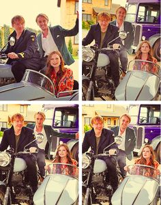 Rupert Grint, Tom Felton, and Bonnie Wright at the grand opening for the Warner Bros. Studio Tour London on March 29, 2012. o-o