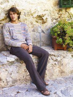 BOARDWALK for Rowan summer 10 in Revive  linen and cotton yarn