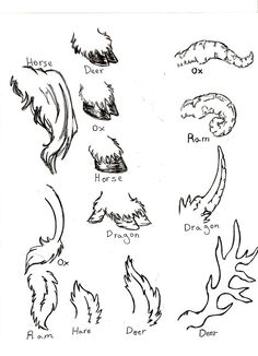 Antlers Tails and Hooves by Leilanse on deviantART