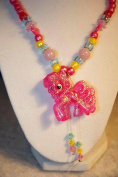 Pinkie pie my little pony necklace/bracelet by IHeartSteamJewelery, $18.00