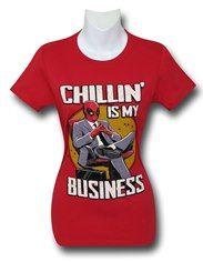 Deadpool Chillin' Business Women's T-Shirt