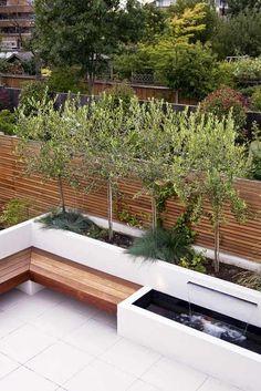 The Coziest Outdoor Seating Ideas - Garten Landschaftsgestaltung Modern Garden Design, Backyard Garden Design, Patio Design, Landscape Design, Backyard Ideas, Modern Design, Pergola Ideas, Fence Design, Landscape Architecture