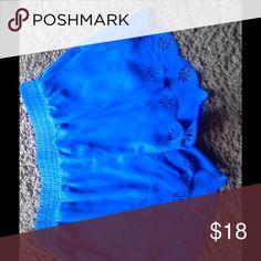 Royal blue shorts with scallop detail Royal blue shorts with scallop detail Shorts