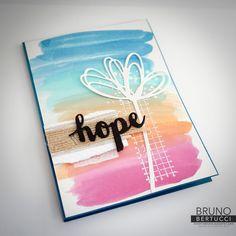 Bruno Bertucci   Stampin Up   stampinbruno   Timeless Textures   Sunshine Sayings   Aqua Painter   Hope   Handmade Card