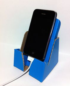 Eco Phone Dock & Stand Universal Fit including iPhone HTC Samsung Blackberry LG (Blue).  via Etsy.