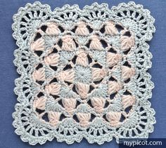 Transcendent Crochet a Solid Granny Square Ideas. Inconceivable Crochet a Solid Granny Square Ideas. Crochet Motifs, Granny Square Crochet Pattern, Crochet Blocks, Crochet Squares, Crochet Granny, Crochet Stitches, Crochet Patterns, Granny Squares, Love Crochet