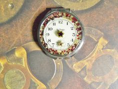 Pocket Watch Mirrored Compact