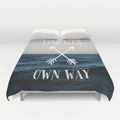 Find Your Own Way Duvet Cover by Alicia Bock - $99.00