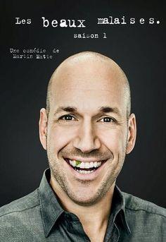 """Les beaux malaises: SAISON 1 - 2013 -- """"Martin Matte n'a pas une vie simple. En fait, sa vie est aussi compliquée que celle des téléspectateurs. Au fil de tableaux de la vie quotidienne, Martin se heurte à la rudesse du quotidien familial, à la complexité des relations amicales & à la bêtise de la société. Et pour une fois, Martin Matte n'est pas toujours à son avantage! Toutes les raisons sont bonnes pour virer au cauchemar & faire passer du rire au malaise. De beaux malaises..."""""""